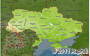 Physical Map of Ukraine, darken