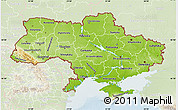 Physical Map of Ukraine, lighten