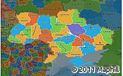 Political Map of Ukraine, darken