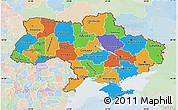 Political Map of Ukraine, lighten