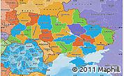 Political Map of Ukraine, political shades outside