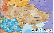 Political Shades Map of Ukraine