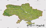 Satellite Map of Ukraine, cropped outside