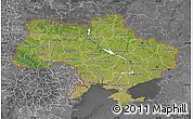 Satellite Map of Ukraine, desaturated