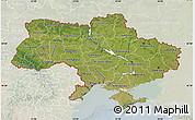Satellite Map of Ukraine, lighten