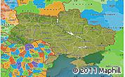 Satellite Map of Ukraine, political outside, satellite sea