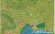 Satellite Map of Ukraine