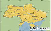 Savanna Style Map of Ukraine, single color outside