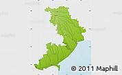 Physical Map of Odes'ka, single color outside