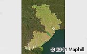 Satellite Map of Odes'ka, darken