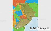 Satellite Map of Odes'ka, political outside