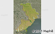 Satellite Map of Odes'ka, semi-desaturated