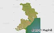Satellite Map of Odes'ka, single color outside