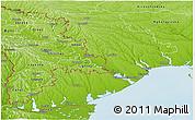 Physical Panoramic Map of Odes'ka