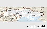 Classic Style Panoramic Map of Ukraine