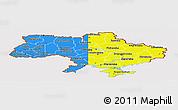 Flag Panoramic Map of Ukraine, flag rotated