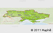 Physical Panoramic Map of Ukraine, lighten