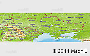 Physical Panoramic Map of Ukraine