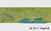 Satellite Panoramic Map of Ukraine