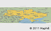 Savanna Style Panoramic Map of Ukraine