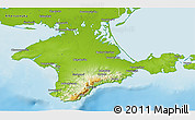 Physical 3D Map of Respublika Krym