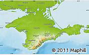Physical Map of Respublika Krym