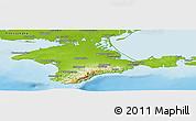 Physical Panoramic Map of Respublika Krym
