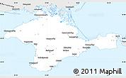 Silver Style Simple Map of Respublika Krym