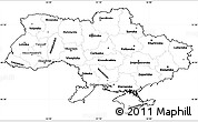 Blank Simple Map of Ukraine, cropped outside