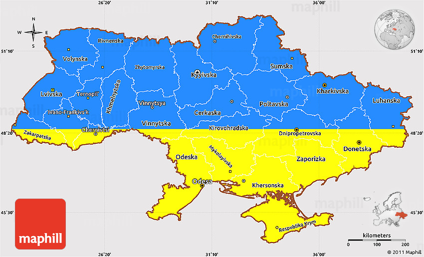 Flag simple map of ukraine sciox Image collections