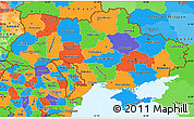 Political Simple Map of Ukraine