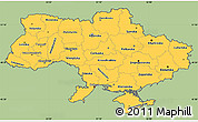 Savanna Style Simple Map of Ukraine, cropped outside