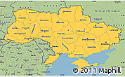 Savanna Style Simple Map of Ukraine