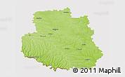 Physical 3D Map of Vinnyts'ka, cropped outside
