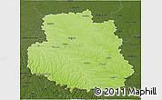 Physical 3D Map of Vinnyts'ka, darken