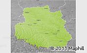 Physical 3D Map of Vinnyts'ka, desaturated