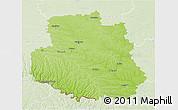 Physical 3D Map of Vinnyts'ka, lighten