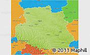 Physical 3D Map of Vinnyts'ka, political outside