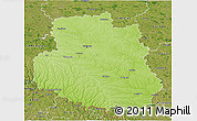 Physical 3D Map of Vinnyts'ka, satellite outside