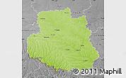 Physical Map of Vinnyts'ka, desaturated
