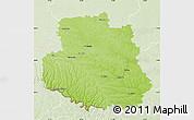 Physical Map of Vinnyts'ka, lighten