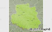 Physical Map of Vinnyts'ka, semi-desaturated