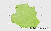 Physical Map of Vinnyts'ka, single color outside