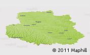 Physical Panoramic Map of Vinnyts'ka, cropped outside