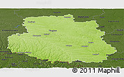 Physical Panoramic Map of Vinnyts'ka, darken