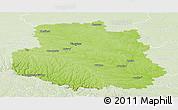 Physical Panoramic Map of Vinnyts'ka, lighten