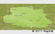 Physical Panoramic Map of Vinnyts'ka, satellite outside