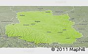 Physical Panoramic Map of Vinnyts'ka, semi-desaturated