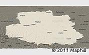 Shaded Relief Panoramic Map of Vinnyts'ka, darken