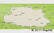 Shaded Relief Panoramic Map of Vinnyts'ka, physical outside